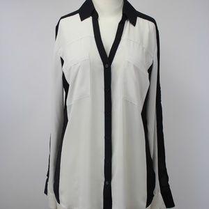 Express Portofino Ivory Black Shirt